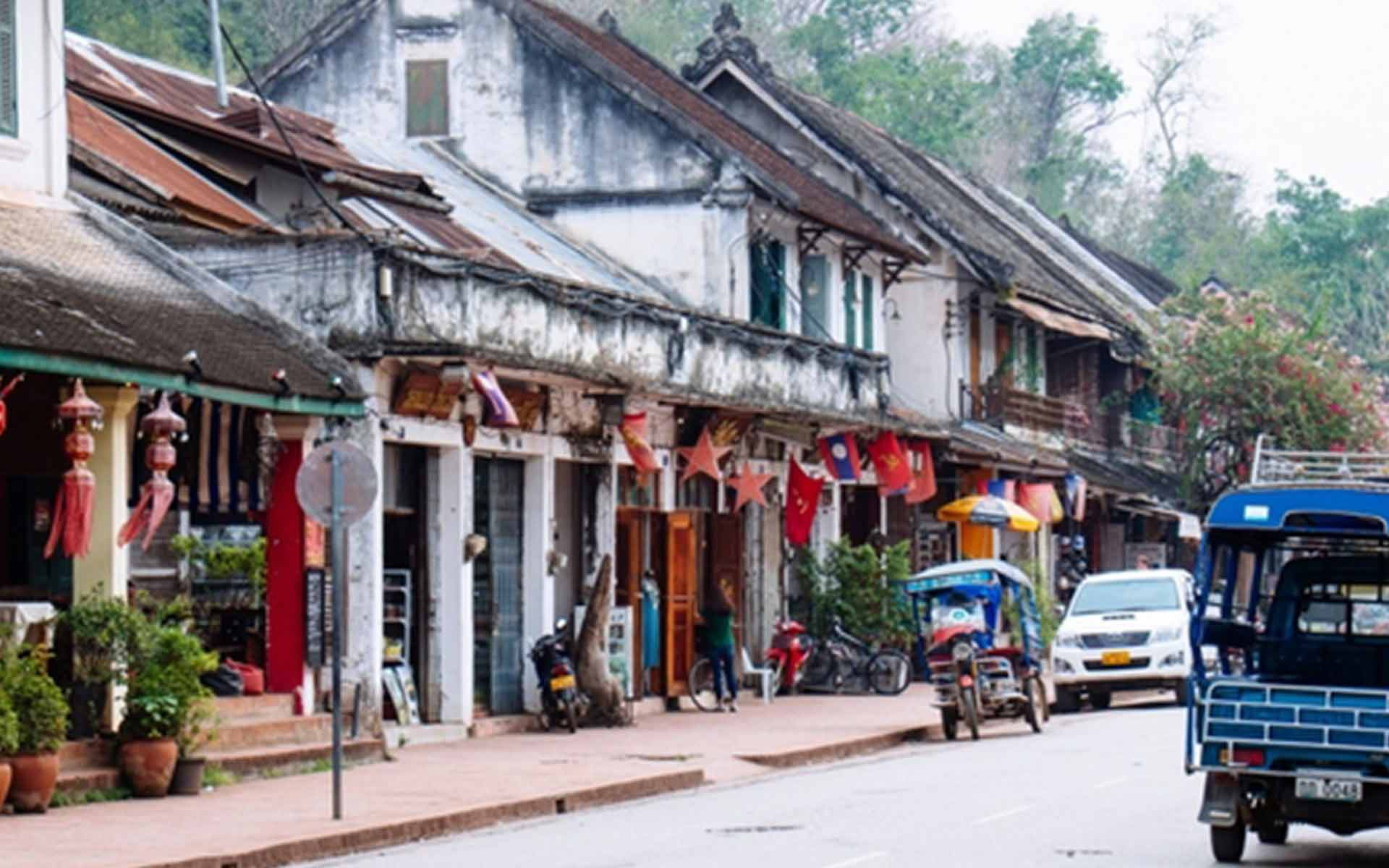 Laos - the only country without coastline in Southeast Asia