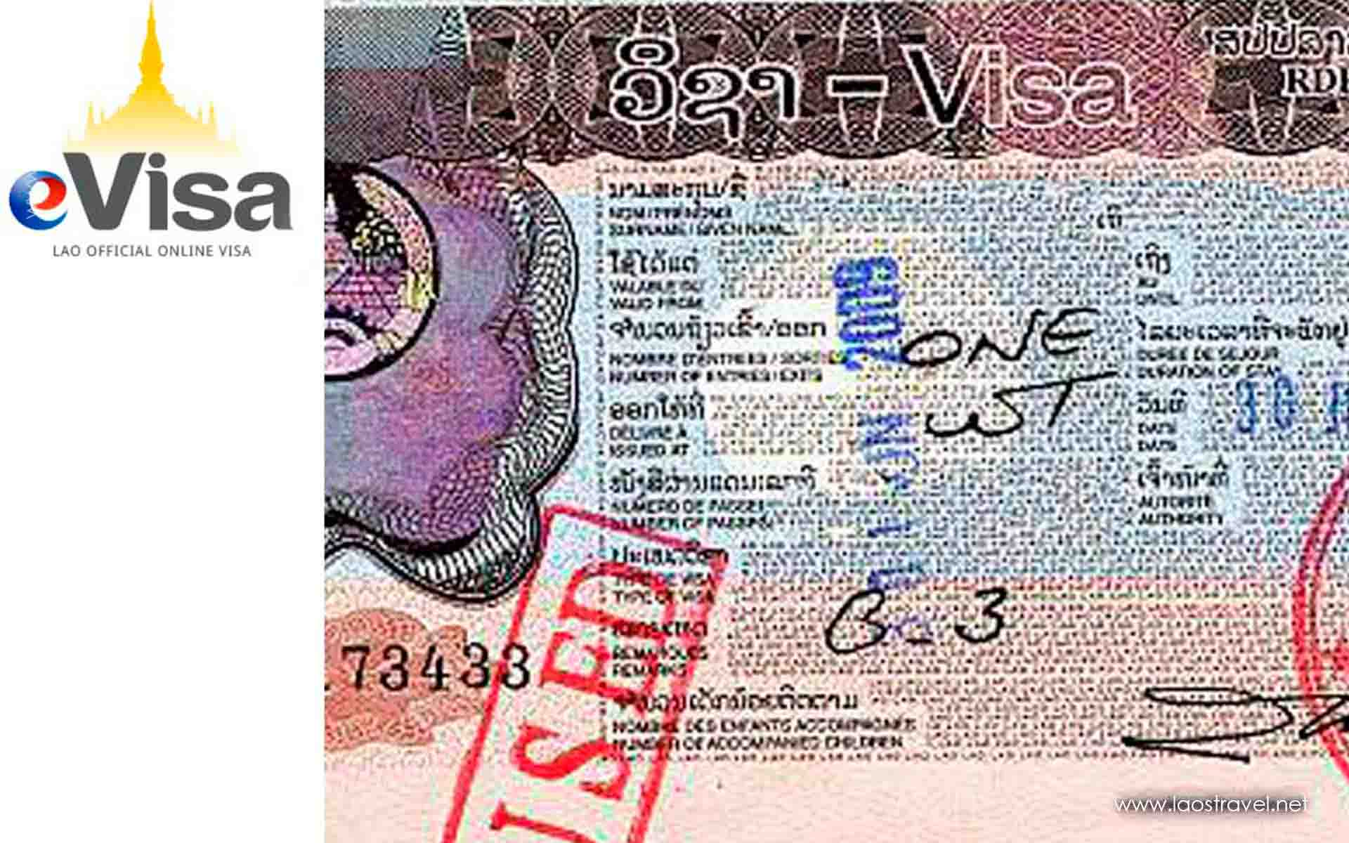 Laos E Visa 2020 Laos Tourist Visa Online Laos Travel